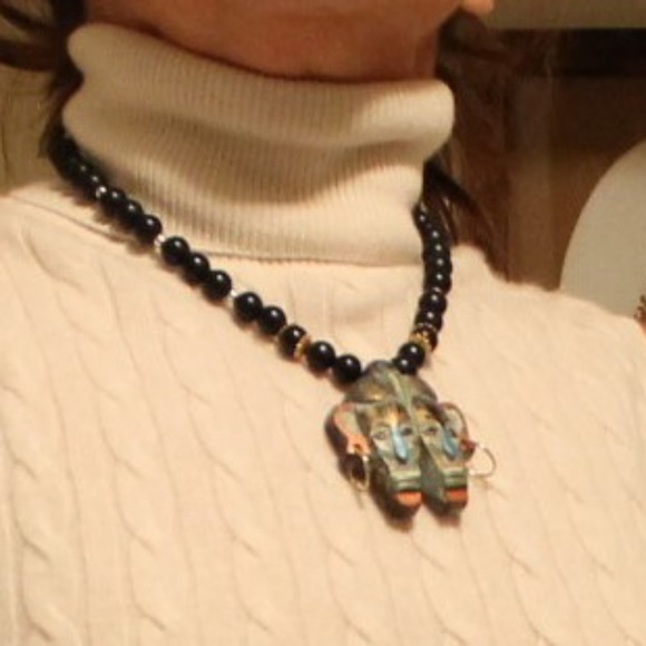 unknown Jewelry - Unique Aztec style statement necklace